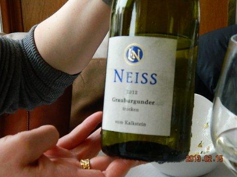 Grau Burgunder Neiss oli tõeliselt nauditav märjuke