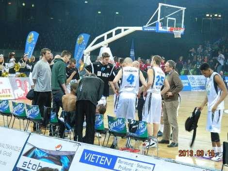 Mängisid  BG Karlsruhe ja Oettinger Gotha Rockets  Viimaste pikim mees oli 2.10.