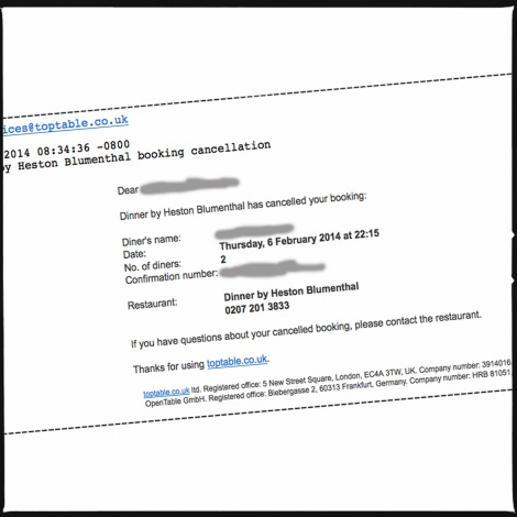 Mail Annulation Dinner London