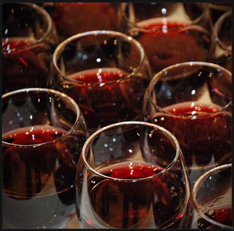 verres beaujolais nouveau